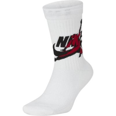 NIKE 襪子 運動襪 中筒襪 2雙入 白 SK0112100 U J LEGACY CREW-JUMP CLASSIC