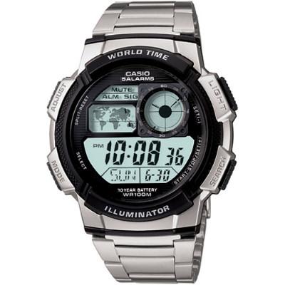 CASIO 雷霆世界戰士運動電子錶-鋼帶(AE-1000WD-1A)/43mm