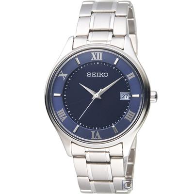 SEIKO精工SPIRIT簡約羅馬太陽能鈦金屬腕錶(SBPX115J)