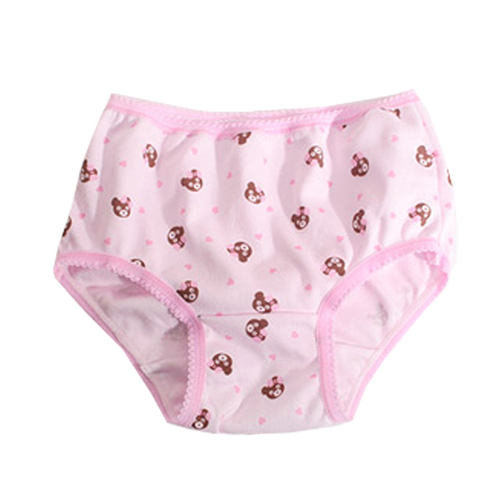 魔法Baby 熊印花女童三角內褲 (四件一組) k50312