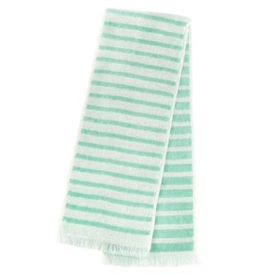 日本丸真 Eco de COOL 涼感運動毛巾 條紋綠