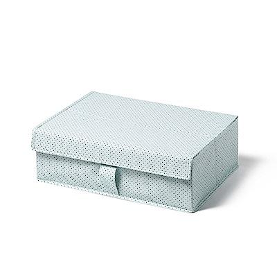 日系風格布藝襪子內衣收納箱-清新點點