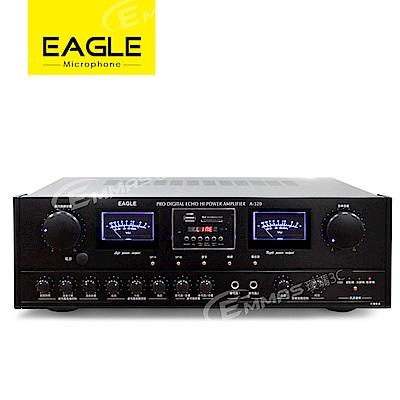EAGLE專業級二聲道卡拉OK擴大機 A-320 加贈原廠動圈麥克風兩支
