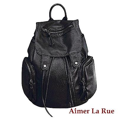 Aimer La Rue 後背包 百搭休閒輕便水洗系列(黑色)
