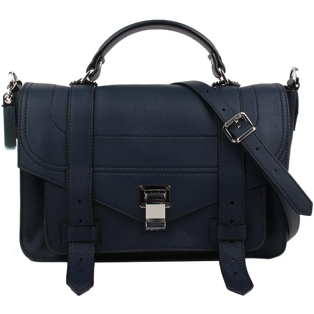 PROENZA SCHOULER PS1 牛皮肩背/手提兩用包(中款/深藍色) @ Y!購物