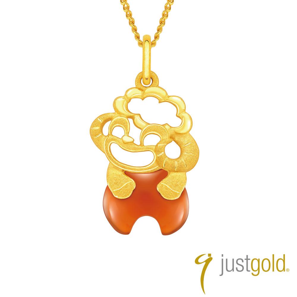 鎮金店 Just Gold 吉祥寶寶十二生肖純金系列 黃金墜子-羊