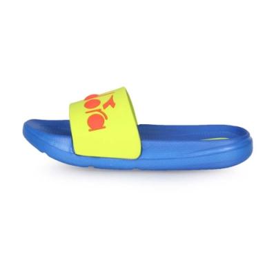 DIADORA 中童運動拖鞋 藍綠橘