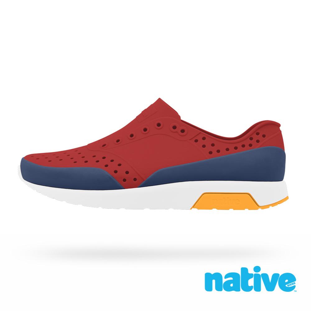 native LENNOX BLOCK 男/女鞋-紅x藍x灰