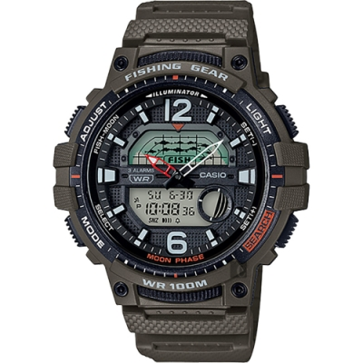 CASIO 卡西歐 釣魚專家 指針/數位手錶(WSC-1250H-3A)