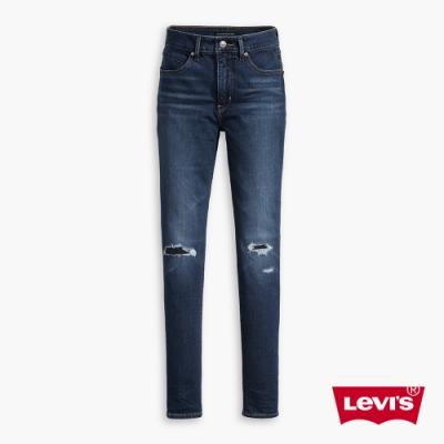 Levis 女款 Revel 高腰緊身提臀牛仔褲/超彈力塑形布料/破壞縫補