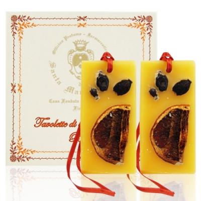 Santa Maria Novella 舒緩香橙香氛蠟版兩入組 30g*2入