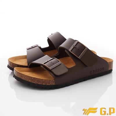 GP時尚涼拖 雙帶勃肯涼鞋款-MTH91-30咖啡(男段)