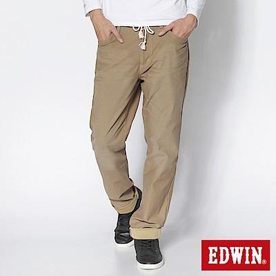 EDWIN AB褲 迦績褲JERSEYS圓織休閒褲-男-淺卡其