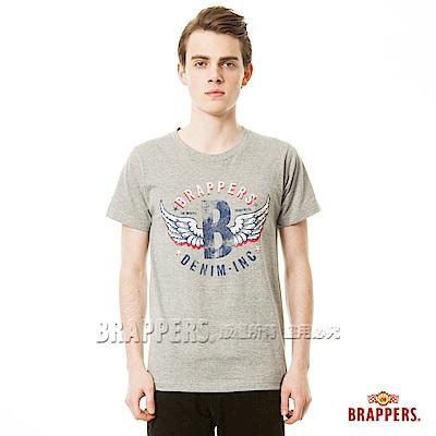 BRAPPERS 男款 日本製大翅膀印花短袖T恤-灰底紅翅