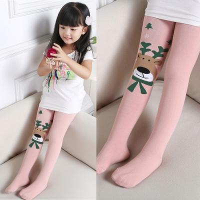 CityShop 兒童針織棉麋鹿圖案褲襪4入組