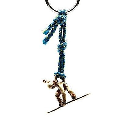 SAC #22 青銅鑰匙圈掛飾 滑雪者