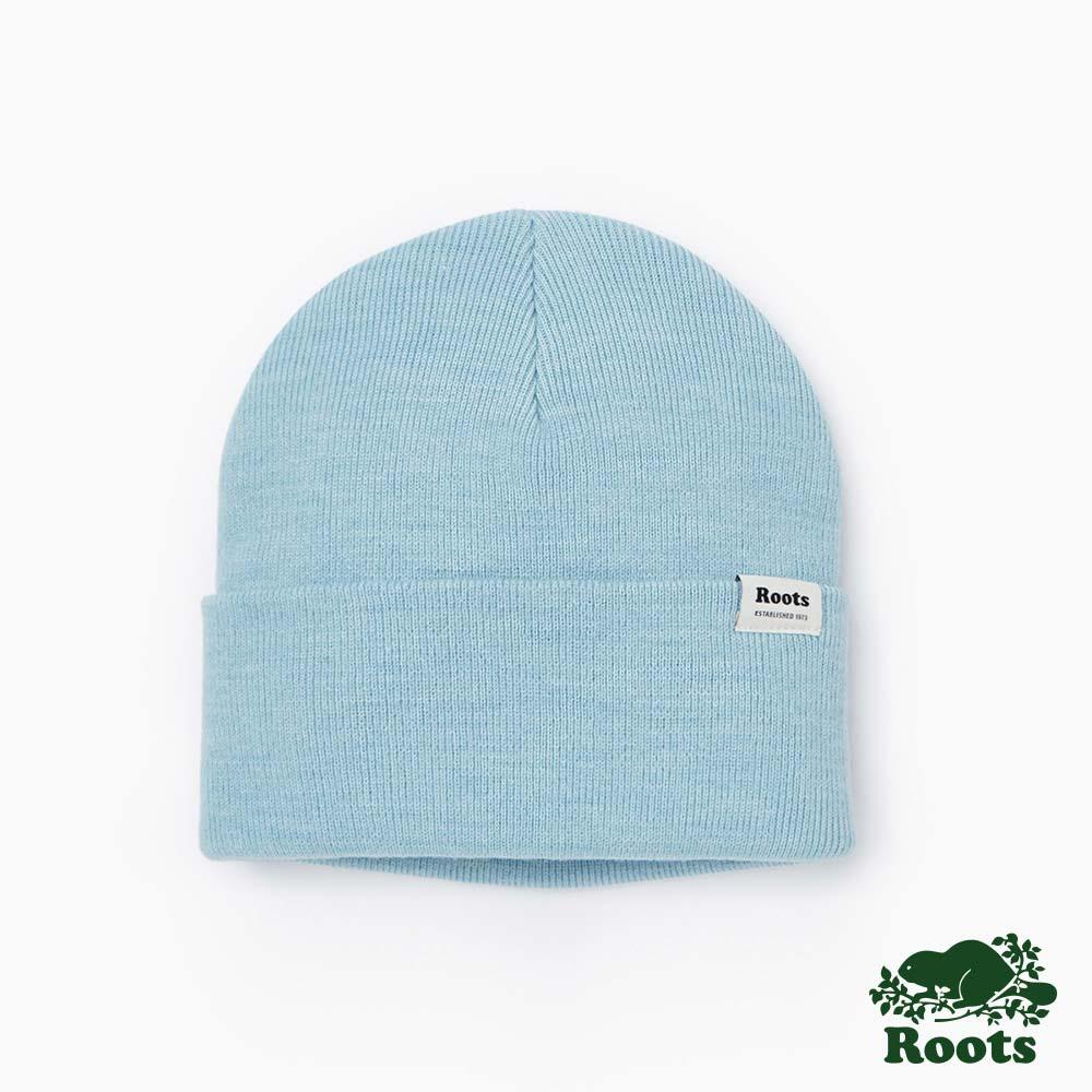 Roots-配件- 布雷斯針織帽-藍