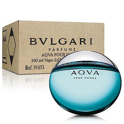 BVLGARI寶格麗 AQVA 水能量男性淡香水100ml-Tester