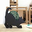 Meric Garden 復古創意手工金屬蚊香盤/薰香盤/小物收納盤(貓咪趴趴)