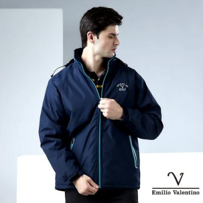 Emilio Valentino 范倫鐵諾立領防風外套_藍(22-7K9256)