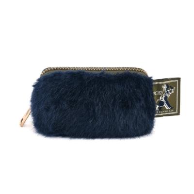 PORTER - 時髦微醺WINE O CLOCK小奢華零錢包 - 藍