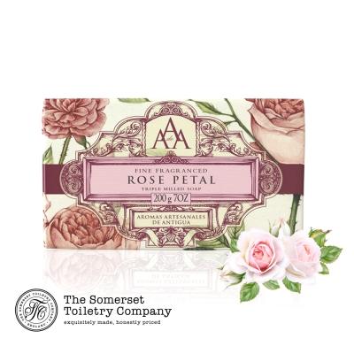 Somerset 賽玫特 英國AAA花卉護膚香皂200g-玫瑰花瓣