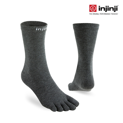 【injinji】LINER中筒內襪 (黑色) - NAA25 | COOLMAX 吸濕排汗 可單穿 透氣中筒襪