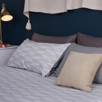 Jumendi喬曼帝 200織精梳純棉-單人床包二件組-靜謐歲月
