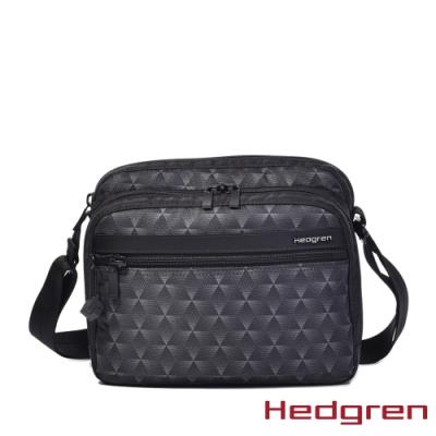 【Hedgren】方塊黑多層收納斜背包(HIC226 METRO)