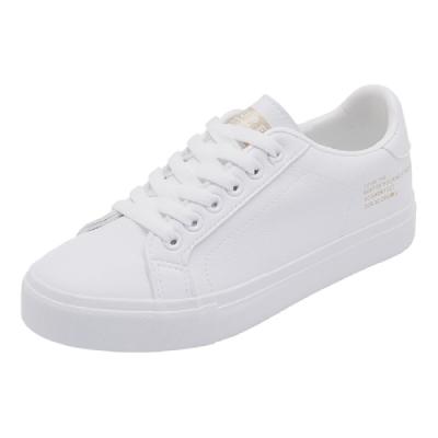 韓國KW美鞋館 時尚百搭造型素面平底鞋-白