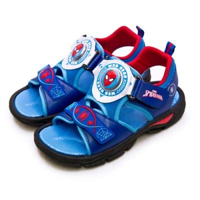 MARVEL 漫威 蜘蛛人SPIDER-MAN 兒童電燈涼鞋  藍紅 09116