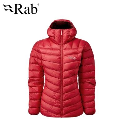 【英國 RAB】Prosar Jacket 輕量保暖羽絨連帽外套 女款 紅寶石 #QDN90