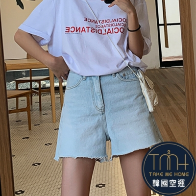 韓國空運 淺色牛仔短褲-TMH