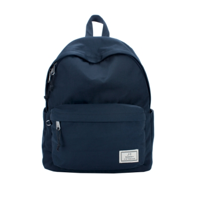 J II 經典水洗防潑水後背包-深藍色-6296-2