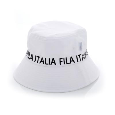 FILA 時尚筒帽-白 HTV-1207-WT