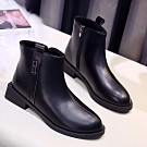 KEITH-WILL時尚鞋館-甜心花紅柳綠中筒靴-黑色