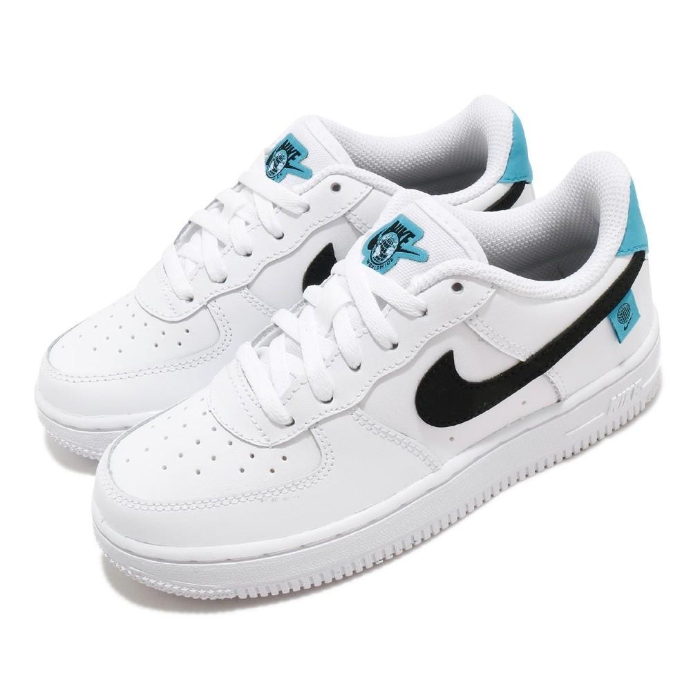 Nike 休閒鞋 Force 1 WW 運動 童鞋 基本款 簡約 舒適 皮革 穿搭 中童 白 黑 CN8539100