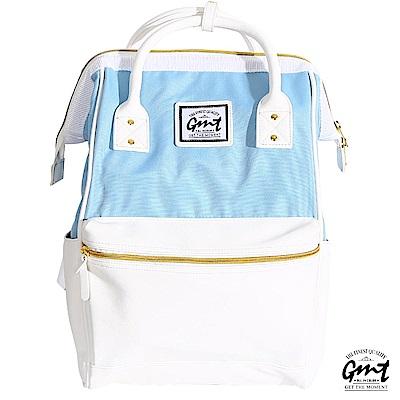 GMT挪威潮流品牌 大開口雙面料後背包-白色