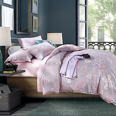 Faieno 雙人四件式 100%天絲兩用被套床包組-淡淡的愛戀