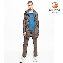 【hilltop山頂鳥】女款輕量超潑水抗UV外套S02FC5咖啡豹紋印花