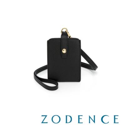 ZODENCE MAG進口牛皮直式證件套 黑色