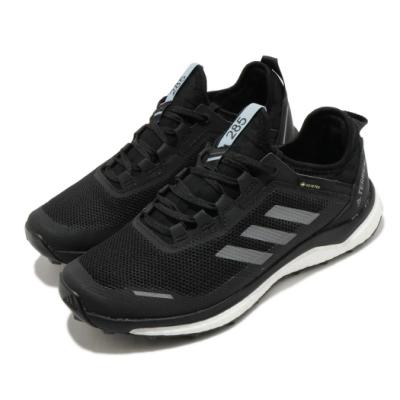adidas 戶外鞋 Terrex Agravic Flow 女鞋 海外限定 愛迪達 襪套式 防潑水 運動 黑 白 EF9618