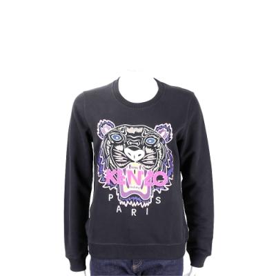 KENZO Embroidered Tiger 老虎字母刺繡黑色運動衫