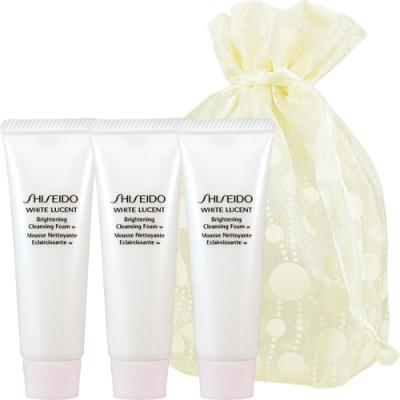 SHISEIDO 資生堂 美透白潔膚皂W(30ml)*3旅行袋組