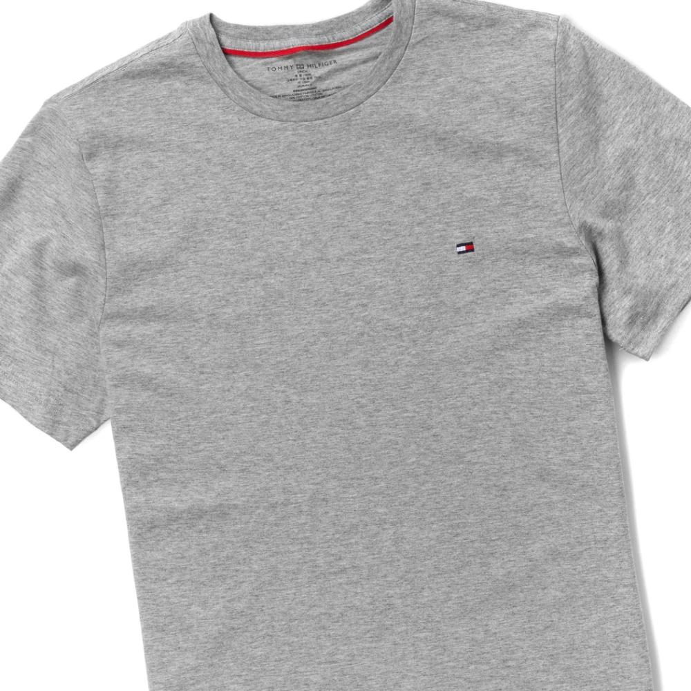TOMMY 年度爆款經典圓領Logo短袖素面T恤-灰色