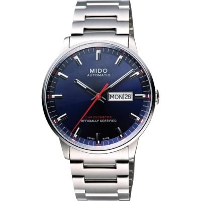MIDO Commander II 天文台認證機械腕錶-藍/40mm M0214311104100