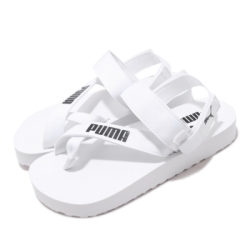 Puma 涼拖鞋 Summercat 套腳 穿搭 女鞋 基本款 輕便 夏日 可拆式後跟 簡約 白 黑 37483702