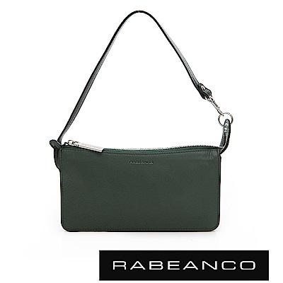 RABEANCO 頂級牛皮多層手拿包長夾 暗雲衫綠