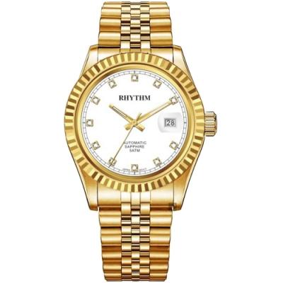 RHYTHM日本麗聲 尊爵晶鑽機械手錶-38mm RA1621S05