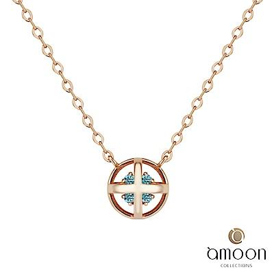 amoon 韓情脈脈系列 玲瓏 14K金寶石項鍊